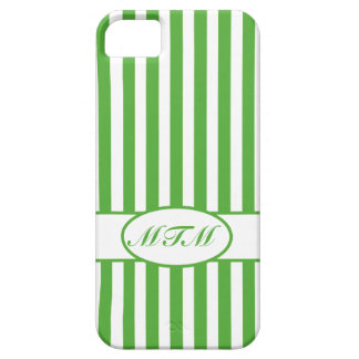 Leaf Autumnal Stripes with monogram iPhone 5 Cover