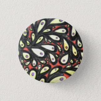 Leaf badge. 3 cm round badge