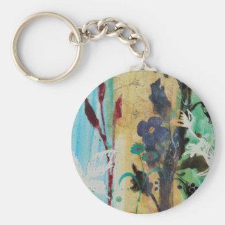 Leaf Berry Flower Key Ring