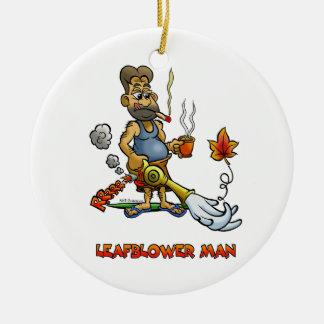 Leaf Blower Man! Christmas Ornament