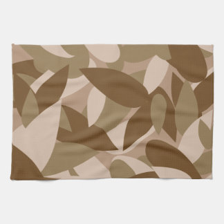 leaf camo tea towel