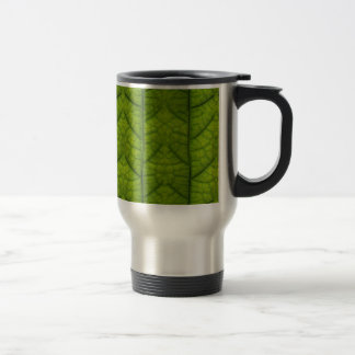 Leaf Closeup Vein Lines Photo Pattern Stainless Steel Travel Mug