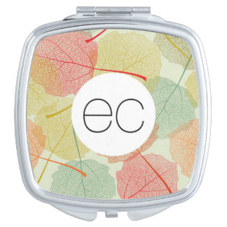 Leaf Compact Mirror For Makeup