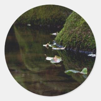 Leaf & Creek Round Sticker
