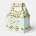 Leaf Damask Art Nouveau Glitter Reception Decor Favour Box