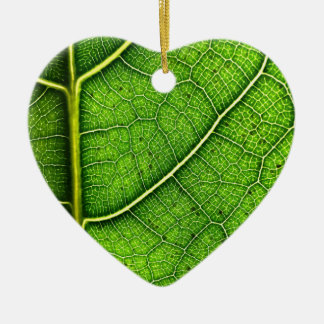 Leaf Dble-sided Heart Ornanent Christmas Ornament