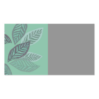 leaf design business cards green and gray art