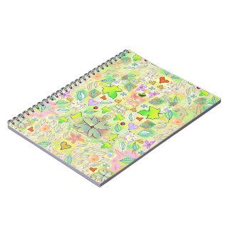 Leaf Design Decorative Art Notebook 80 pg