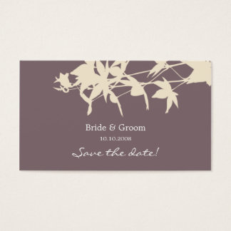 Leaf design Save the date smoke Business Card