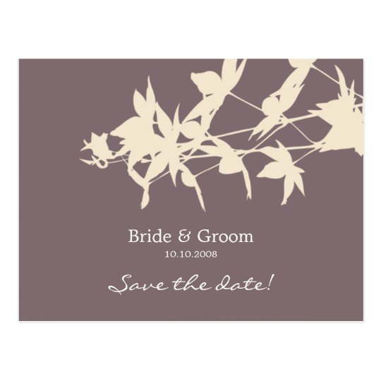 Leaf design Save the date SMOKE P Postcard