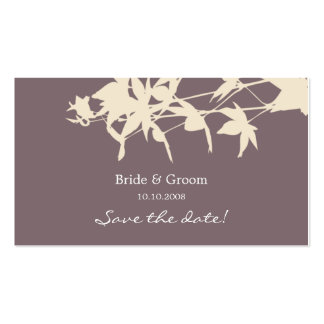 Leaf design Save the date smoke Pack Of Standard Business Cards