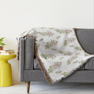 Leaf Design Throw Blanket