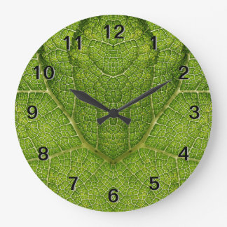 Leaf. Digital Art. Large Clock
