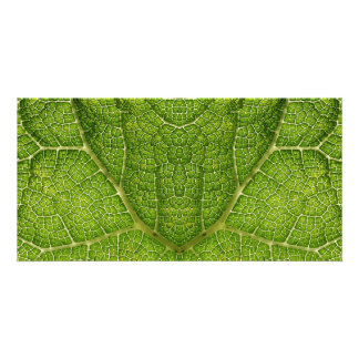 Leaf Digital Art Customized Photo Card