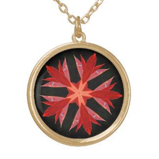 Leaf Flower Gold Plated Necklace