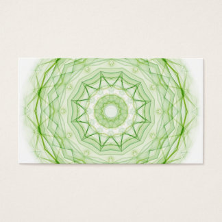 Leaf Green Spiderweb Business Card