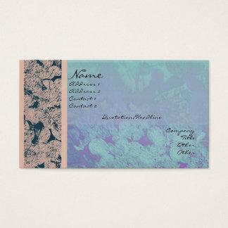 Leaf Harmony Blue & Orange Profile Card