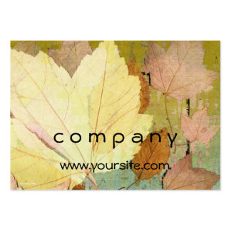 Leaf Harmony Orange Yellow Green Pack Of Chubby Business Cards
