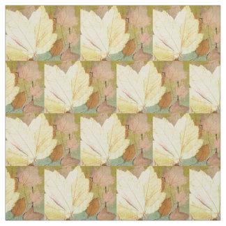 Leaf Harmony Orange Yellow Green Fabric