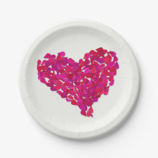 Leaf heart paper plate