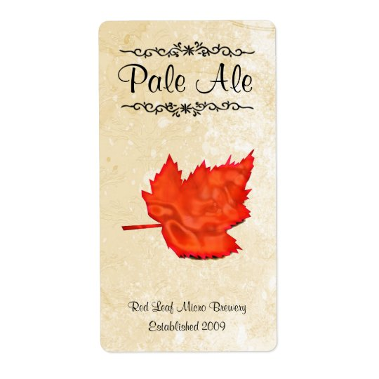 Leaf Home brewed beer Labels