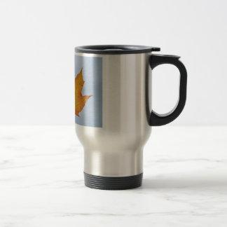 Leaf Image Stainless Steel Travel Mug