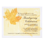 Leaf Imprint Thanksgiving Celebration Invitations