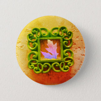 Leaf in a Frame 6 Cm Round Badge