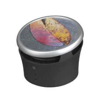 Leaf in autumn bluetooth speaker