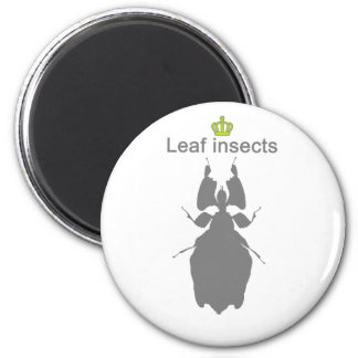 Leaf insects g5 6 cm round magnet
