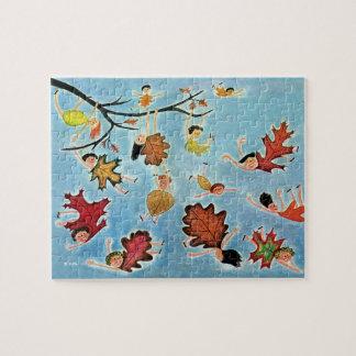 Leaf Kids Jigsaw Puzzle