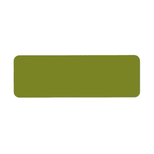 Leaf Light Army Green Solid Trend Colour Return Address Label