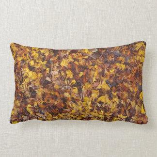 Leaf litter lumbar cushion