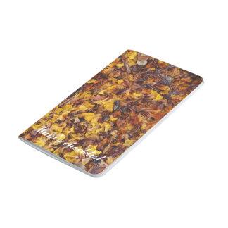 Leaf litter pocket journal