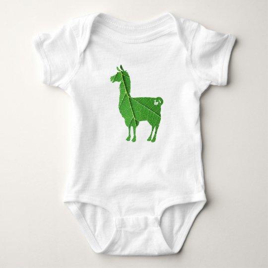 Leaf Llama Baby Bodysuit