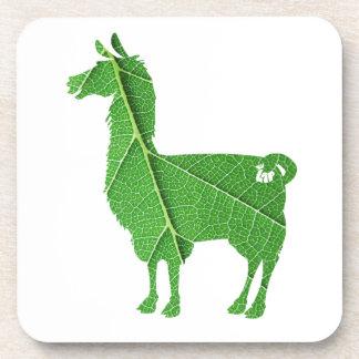 Leaf Llama Coasters