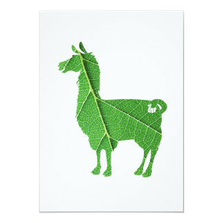 Leaf Llama Invitation