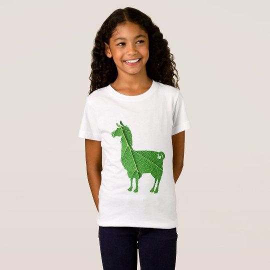 Leaf Llama Kids T-Shirt