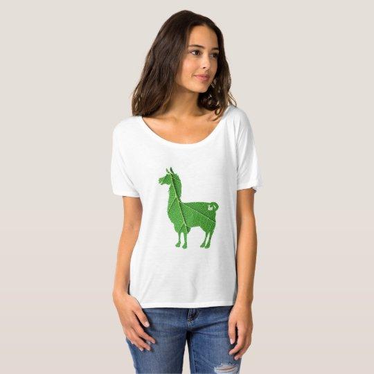 Leaf Llama Ladies Slouchy T-Shirt