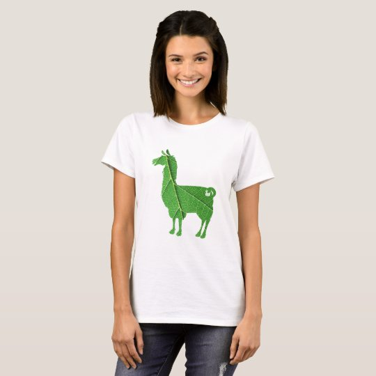 Leaf Llama Ladies T-Shirt