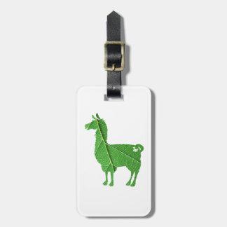 Leaf Llama Luggage Tag