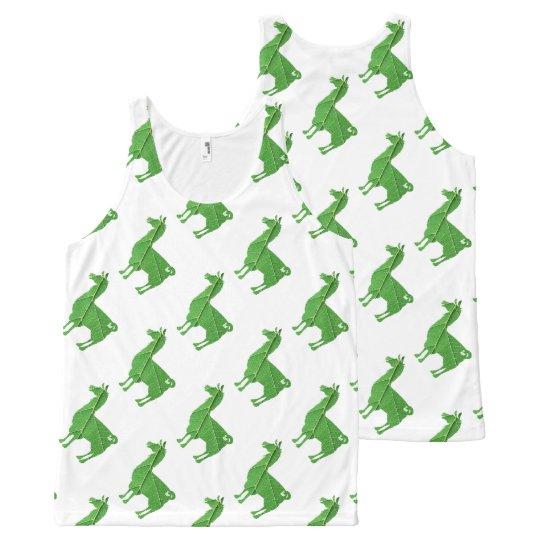 Leaf Llama Tank Top Pattern All-Over Print Tank Top