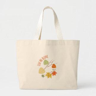 Leaf Me Alone Jumbo Tote Bag