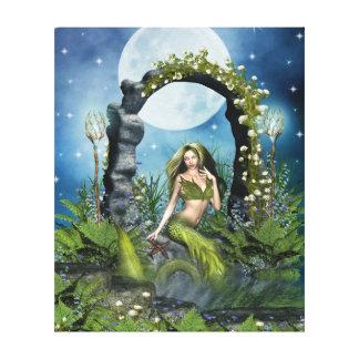 Leaf Mermaid Canvas Print