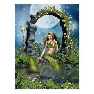 Leaf Mermaid Post Cards