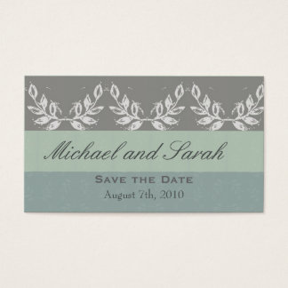 Leaf Motif Save the Date Custom