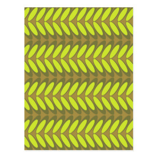 Leaf  N Wave (green) Postcard