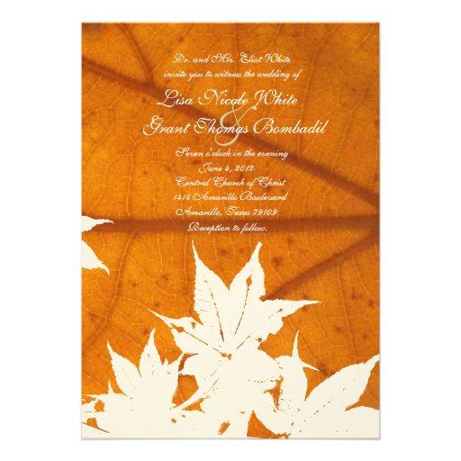 Leaf on Leaf Wedding Invitations