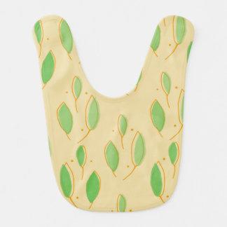 Leaf Pattern Baby Bib