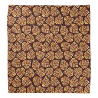 Leaf pattern bandana